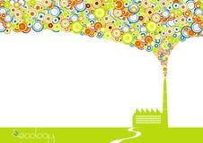 fabryki zieleni dym ilustracji