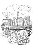 Fabrykować i operaci system w fabrycznej linii montażowej ręce Obrazy Stock