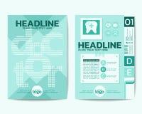 Fabrykuje temat broszurki ulotki projekta Plakatowego układ i Dokumentuje Zdjęcia Stock