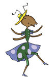 Fabulous ant is dancing Stock Images