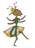 Fabulous ant is dancing Royalty Free Stock Images