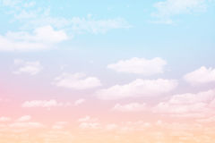 Fabulous background Sky with clouds Stock Images