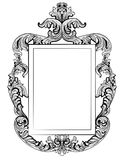 Fabulous Baroque Mirror frame set. Vector French Luxury rich carved ornaments. Victorian wealthy Style furniture Stock Images