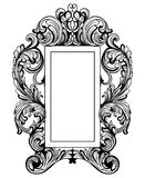 Fabulous Baroque Mirror frame set. Vector French Luxury rich carved ornaments. Victorian wealthy Style furniture Royalty Free Stock Photos