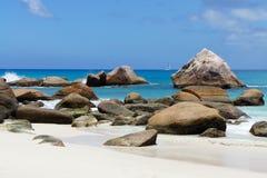 Fabulous beach Anse Source D'Argent Stock Photos