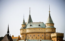 Fabulous Bojnice castle Royalty Free Stock Photos