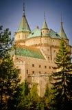 Fabulous Bojnice castle Stock Image