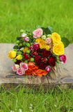Fabulous bouquet of colorful roses Royalty Free Stock Images