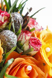 Fabulous bouquet of orange roses and other flowers Royalty Free Stock Photography