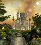 Fabulous castle Stock Images
