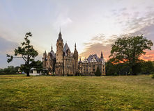 Free Fabulous Castle In Moszna In The Evening, Opole, Poland Royalty Free Stock Photography - 58487947