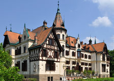 Fabulous castle Lesna,Czech republic. Beautiful castle near town Zlin is surrounded by zoological garden Royalty Free Stock Image