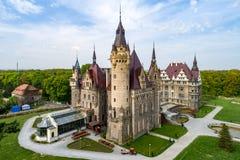 Fabulous castle in Moszna near Opole, Silesia, Poland. Fabulous historic castle in Moszna near Opole, Silesia, Poland. Built in XVII century, extended from 1900 Stock Photo