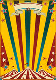 Fabulous circus. A multicolor circus poster for your advertising royalty free stock photo