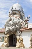 Fabulous entrance to the water park U Lukomorye in the city of Evpatoria, Crimea stock image