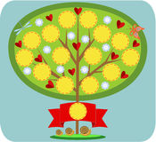 Fabulous family tree. Green family tree with blank places for photos Royalty Free Illustration