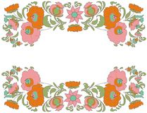 Fabulous Floral Pattern Ethnic flowers Floral folk art Folkart Flower pattern Vintage background Vector illustration Ethnic decora Stock Photo
