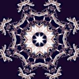 Fabulous fractal background with circle ornament.  Royalty Free Stock Photo