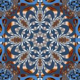 Fabulous fractal background. You can use it for invitations, not. Ebook covers, phone case, postcards, cards, ceramics, carpets and so on. Artwork for creative Stock Image