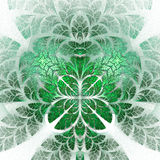 Fabulous fractal pattern in green. Collectiont - tree foliage. C Stock Images
