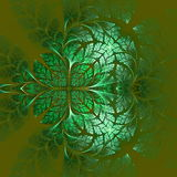 Fabulous fractal pattern in green. Collectiont - tree foliage. Stock Images