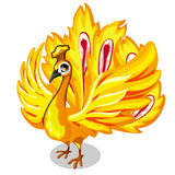 Fabulous Golden bird on a white background. Vector. Illustration for your design needs Royalty Free Stock Images