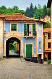 Fabulous house with an arch in the Italian court yard Stock Photo