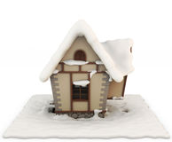 Fabulous house in the snow Stock Images