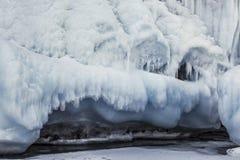 Fabulous ice cave on lake Baikal. Eastern Siberia. Russia royalty free stock images