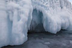 Fabulous ice cave on lake Baikal. Eastern Siberia. Russia royalty free stock photos