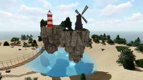 The floating island stock video