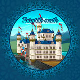 Fabulous medieval castle frame, nature background Stock Images