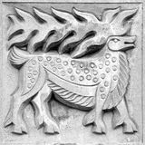 Fabulous moose, bas-relief Royalty Free Stock Images