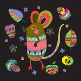 Fabulous mouse on a black background. Stock Image