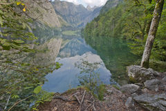 Fabulous Obersee Reflections Stock Photo