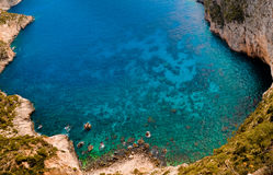 Fabulous paradise bay in Greece Royalty Free Stock Image