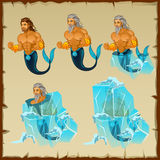 Fabulous resident of the magical underwater world royalty free illustration
