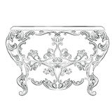 Fabulous Rich Rococo Console Table Stock Images