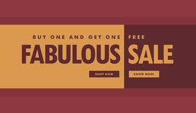Fabulous sale banner poster template for promotion Stock Photography