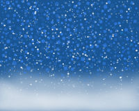 Fabulous snowflakes falling on the ground Royalty Free Stock Photography