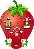 Fabulous strawberry house Stock Photos