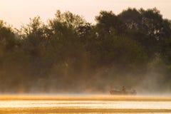 Fabulous sunrise on the river. Oder river, Poland,fabulous sunrise on the river Stock Photography
