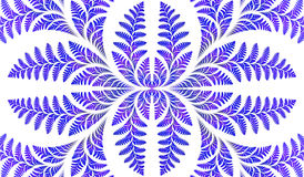 Fabulous symmetric pattern of the leaves in blue. Royalty Free Stock Photo