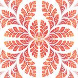 Fabulous symmetric pattern of the leaves in orange. Computer gen Royalty Free Stock Images