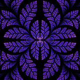 Fabulous symmetric pattern of the leaves in purple. Computer gen Stock Image