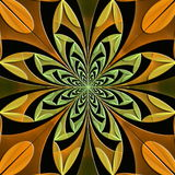 Fabulous symmetrical pattern of the leaves with embossed effect. Stock Photos