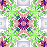 Fabulous symmetrical pattern of the petals. Green and purple pal Stock Photography