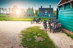 Fabulous touristic village Zaanse Schans near Amsterdam, Netherlands, Europe Stock Photography
