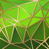 Fabulous triangles in gold. Royalty Free Stock Photos
