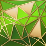 Fabulous triangles in gold. Stock Photo